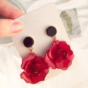 art deco, fashion jewelry, fashion, jewellery, rose earrings, acrylic earrings, Christi Tasker, resort wear, beach fashion, earrings, tropical earrings, designer earrings, miami designer, miami fashion